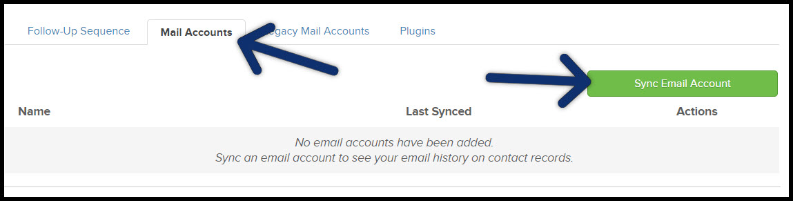 sync email account