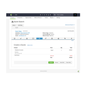 Infusionsoft offerter